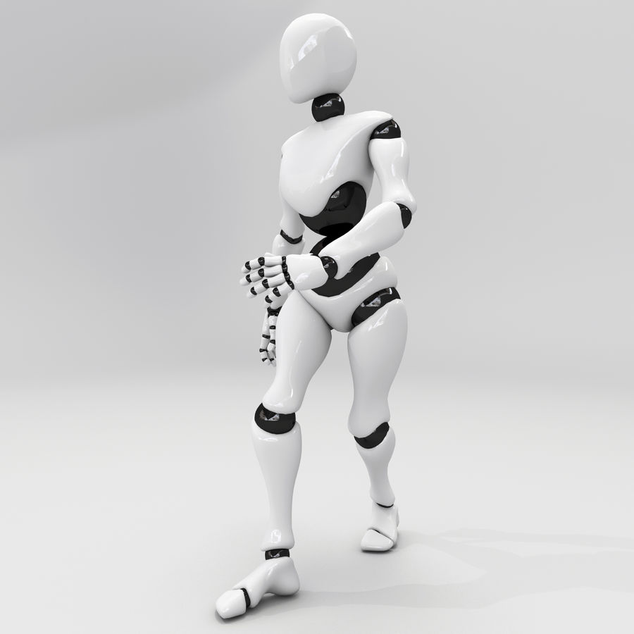 Animated Dancing Robot royalty-free 3d model - Preview no. 2