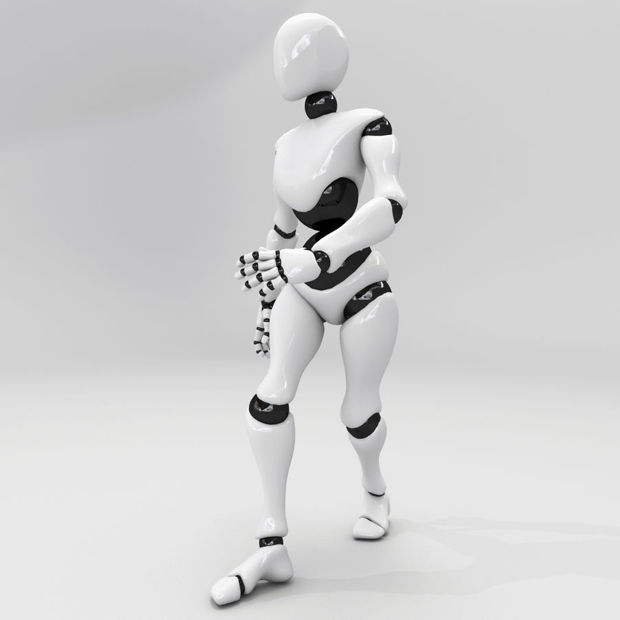 Animated Dancing Robot royalty-free 3d model - Preview no. 1