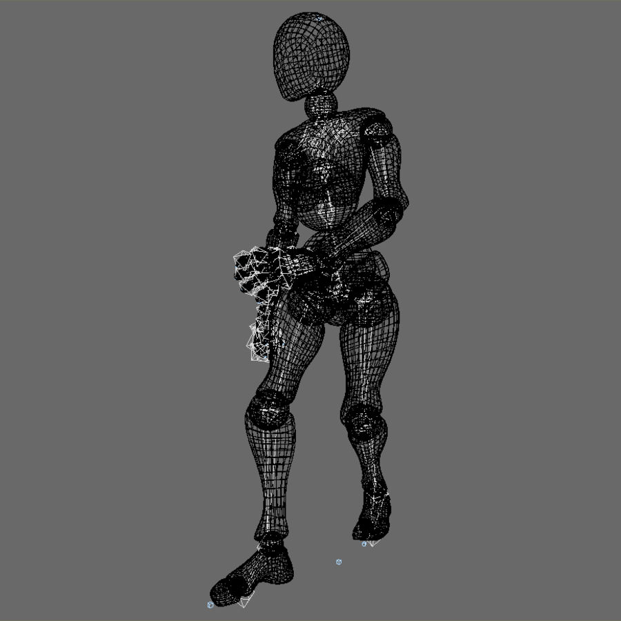 Animated Dancing Robot royalty-free 3d model - Preview no. 4