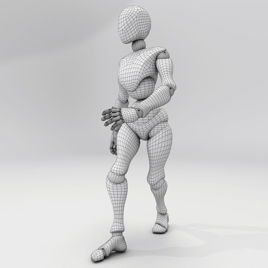 Animated Dancing Robot royalty-free 3d model - Preview no. 3