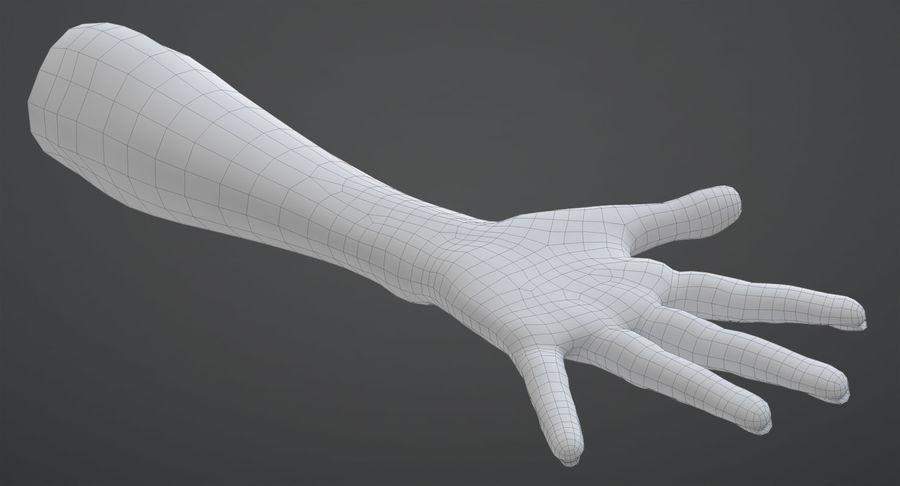 Vrouwelijke hand royalty-free 3d model - Preview no. 12