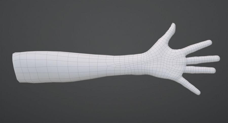 Vrouwelijke hand royalty-free 3d model - Preview no. 13