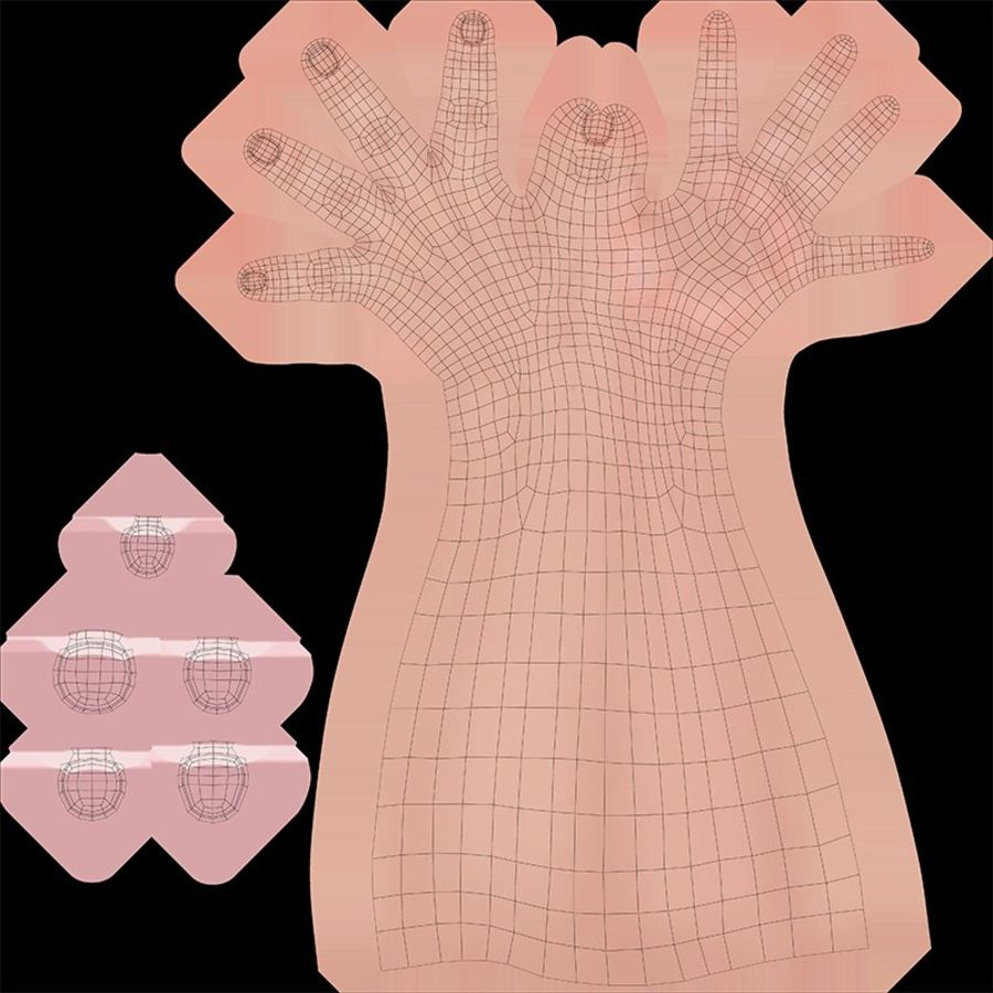 Vrouwelijke hand royalty-free 3d model - Preview no. 15