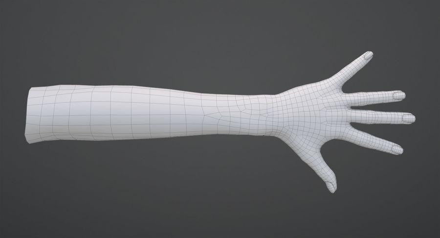 Vrouwelijke hand royalty-free 3d model - Preview no. 14