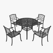 Iron Furniture Set 3d model