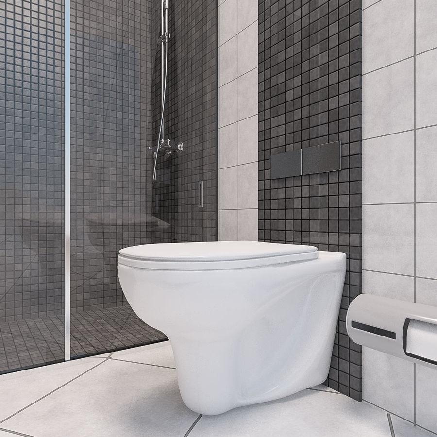 现代浴室场景 royalty-free 3d model - Preview no. 2