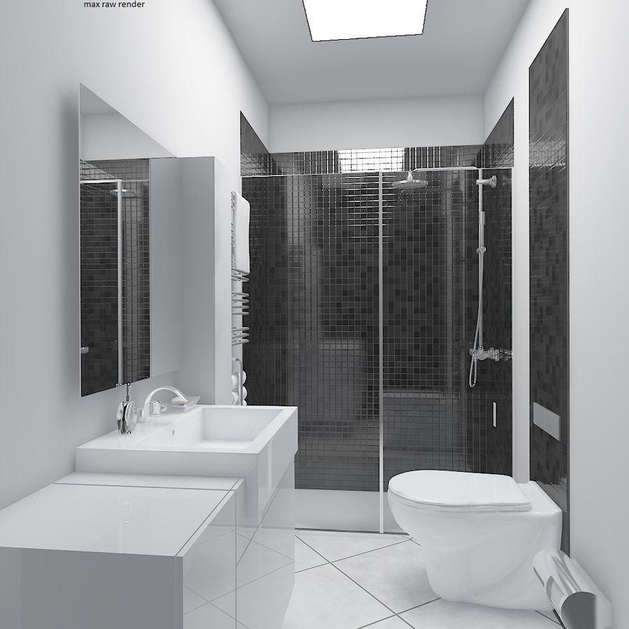 现代浴室场景 royalty-free 3d model - Preview no. 5