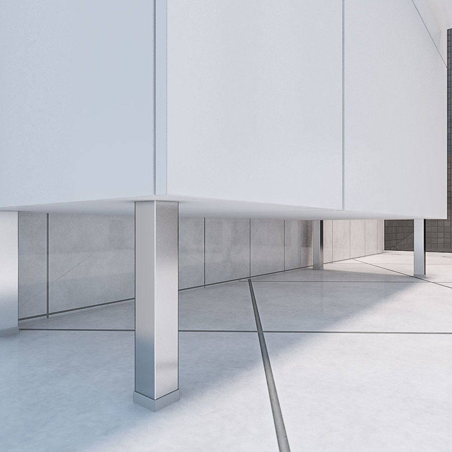 现代浴室场景 royalty-free 3d model - Preview no. 4