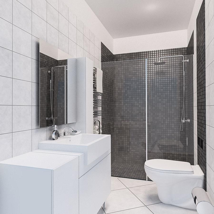 现代浴室场景 royalty-free 3d model - Preview no. 1
