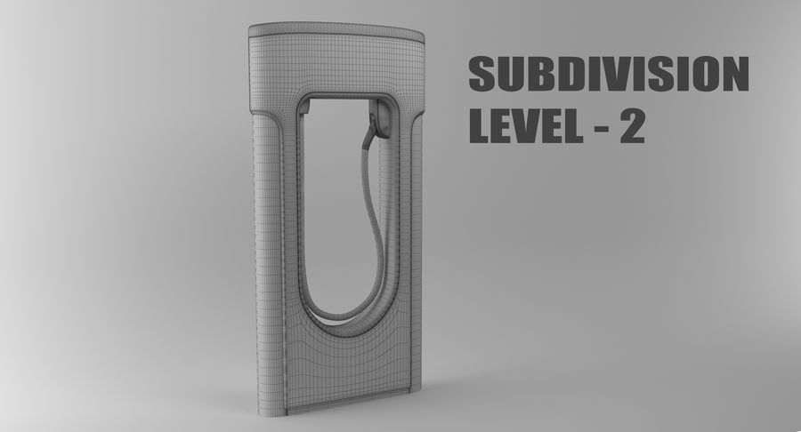 Tesla Car Charger royalty-free 3d model - Preview no. 14