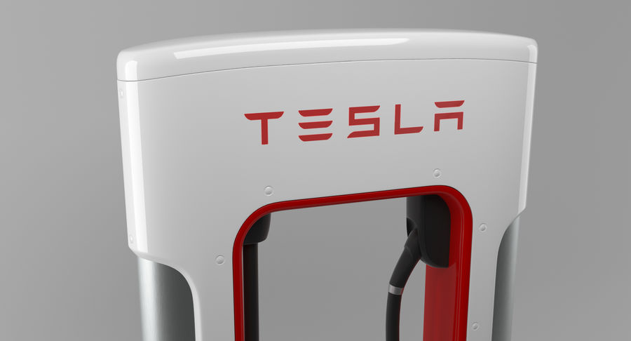 Tesla Car Charger royalty-free 3d model - Preview no. 5