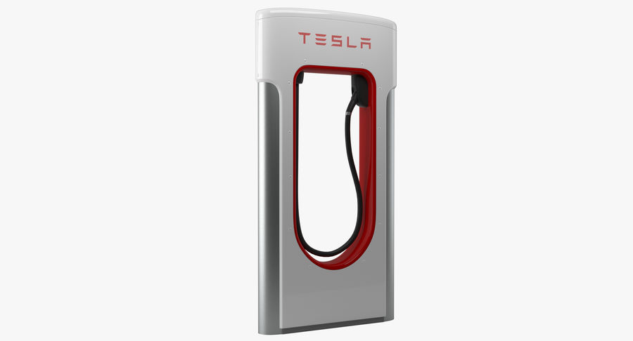 Tesla Car Charger royalty-free 3d model - Preview no. 2