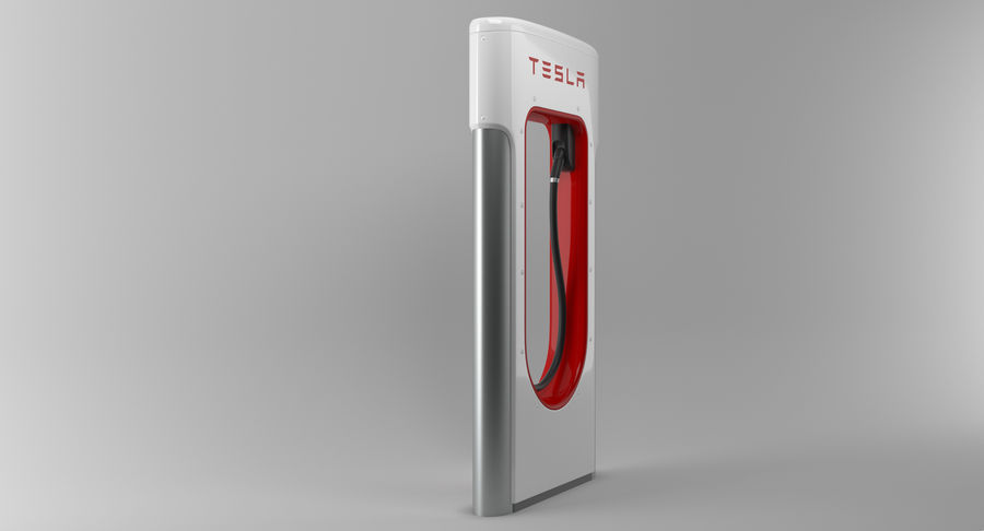 Tesla Car Charger royalty-free 3d model - Preview no. 4