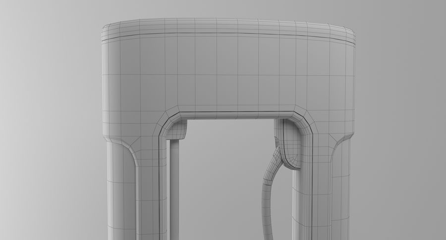 Tesla Car Charger royalty-free 3d model - Preview no. 15