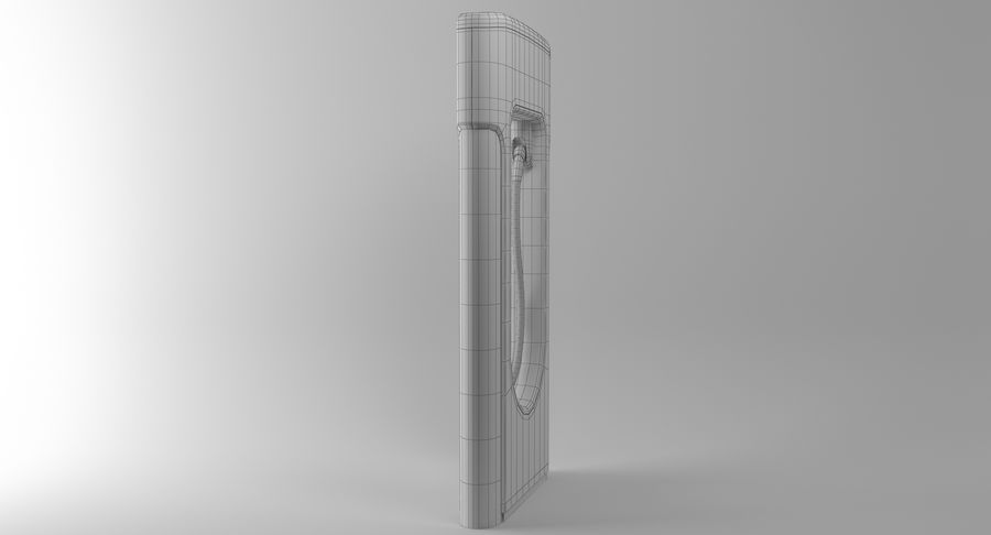 Tesla Car Charger royalty-free 3d model - Preview no. 16