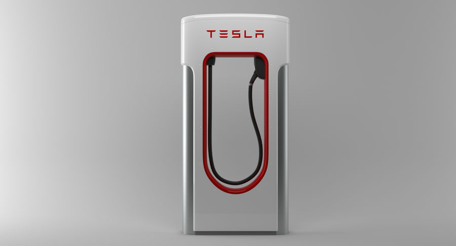 Tesla Car Charger royalty-free 3d model - Preview no. 6