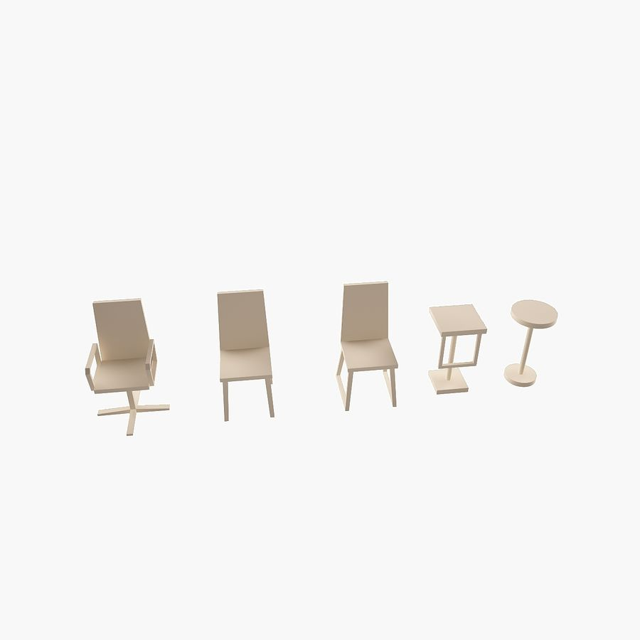 Simply Interior furniture royalty-free 3d model - Preview no. 9