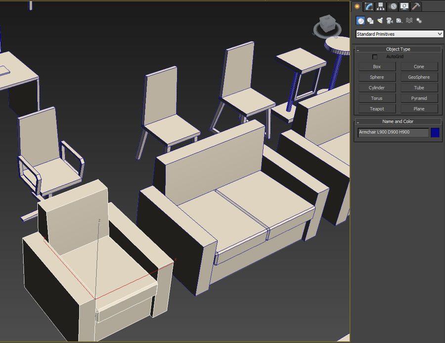 Simply Interior furniture royalty-free 3d model - Preview no. 22