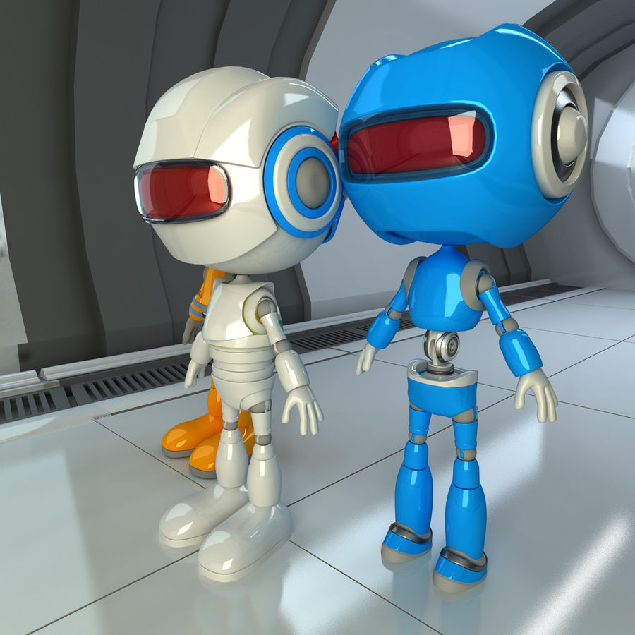 Robots Character royalty-free 3d model - Preview no. 5