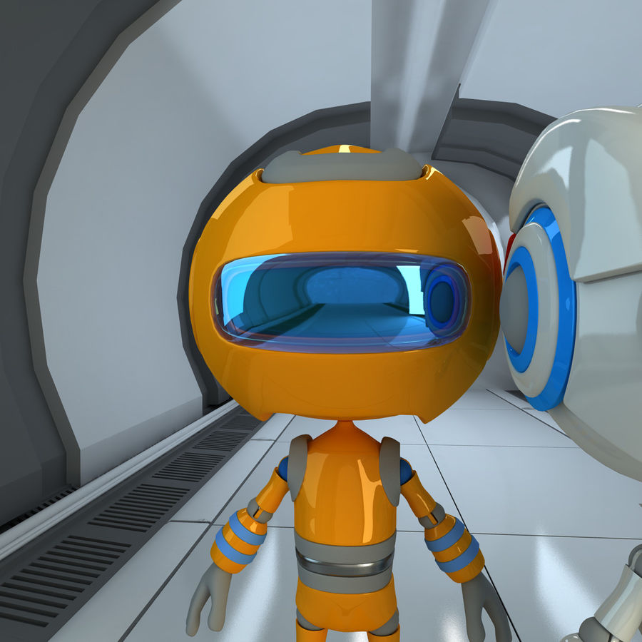 Robots Character royalty-free 3d model - Preview no. 8