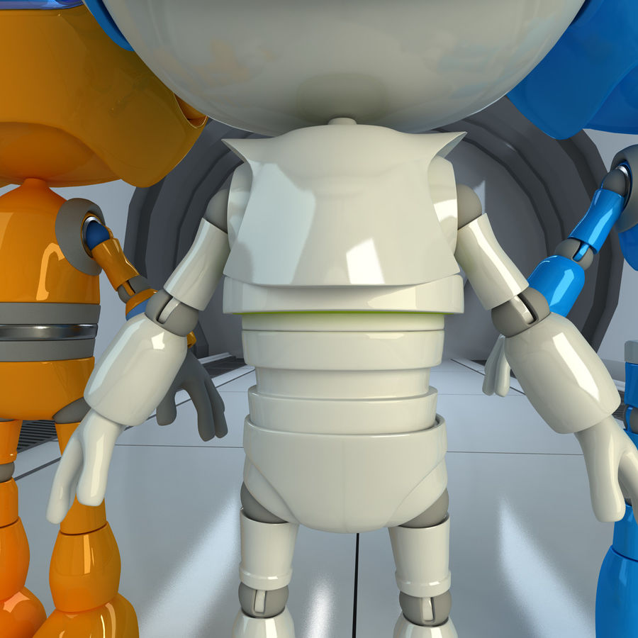 Robots Character royalty-free 3d model - Preview no. 4