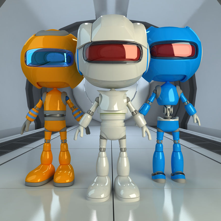 Robots Character royalty-free 3d model - Preview no. 1