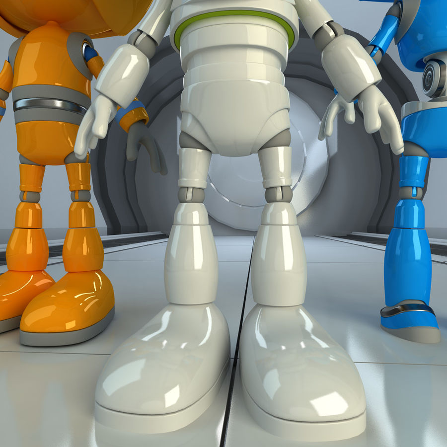 Robots Character royalty-free 3d model - Preview no. 6