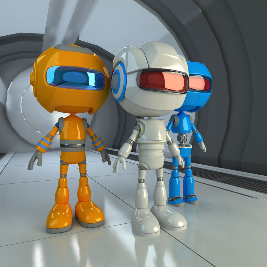 Robots Character royalty-free 3d model - Preview no. 2