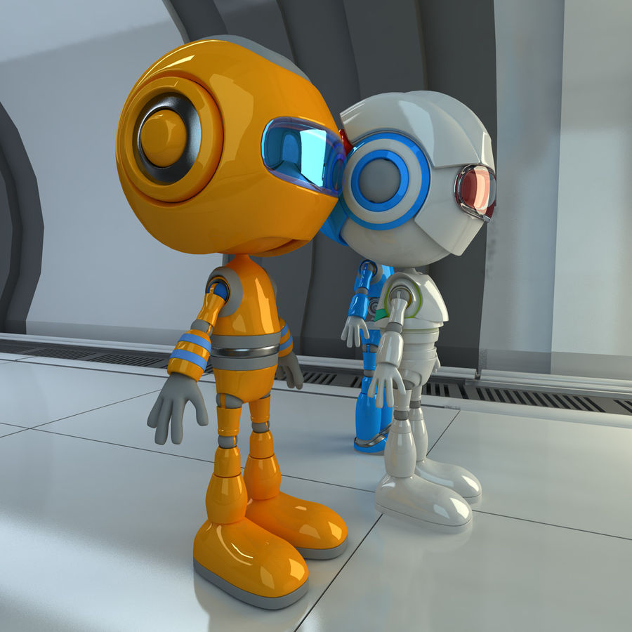 Robots Character royalty-free 3d model - Preview no. 3