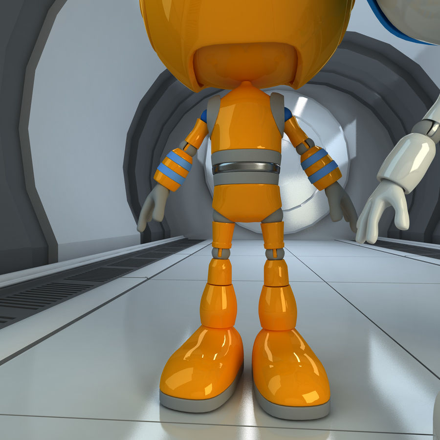 Robots Character royalty-free 3d model - Preview no. 7