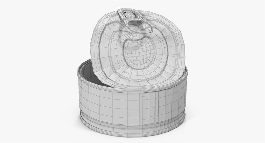 Tin Can Open 3 royalty-free 3d model - Preview no. 28