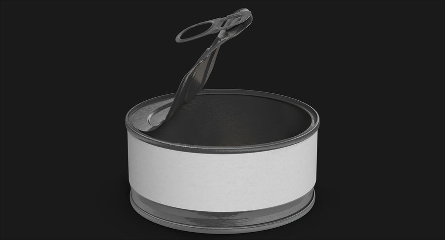 Tin Can Open 3 royalty-free 3d model - Preview no. 3