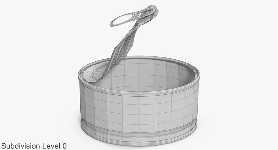 Tin Can Open 3 royalty-free 3d model - Preview no. 15