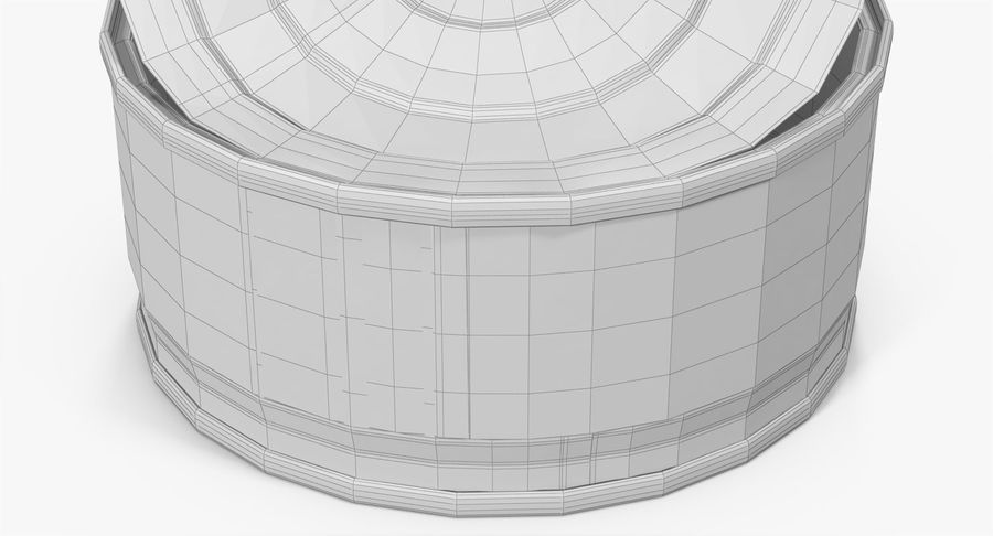 Tin Can Open 3 royalty-free 3d model - Preview no. 23