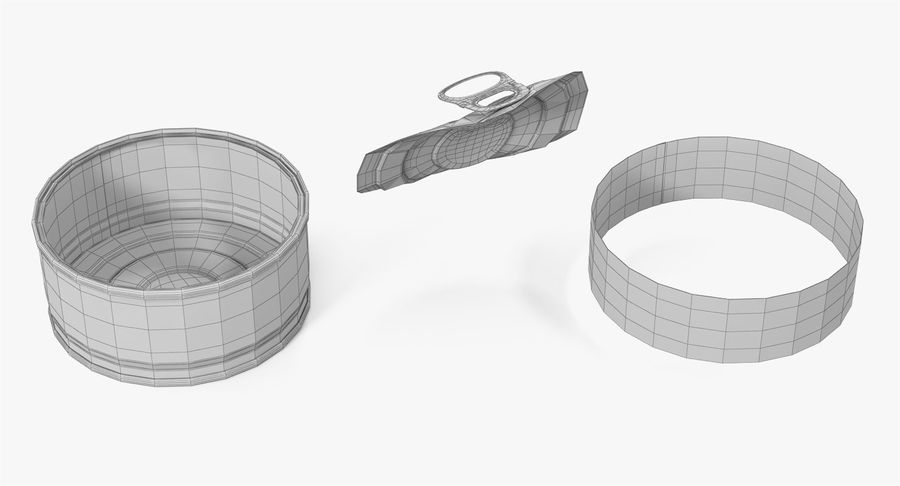 Tin Can Open 3 royalty-free 3d model - Preview no. 24