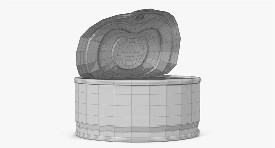 Tin Can Open 3 royalty-free 3d model - Preview no. 27
