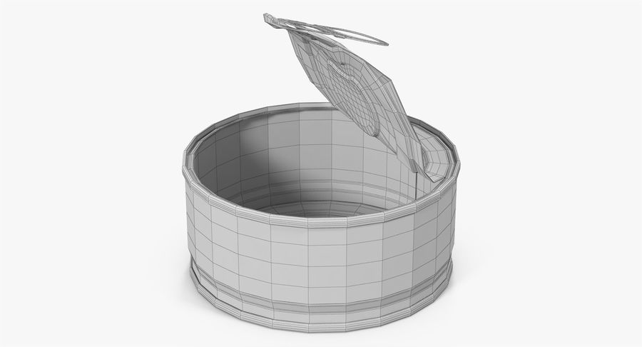 Tin Can Open 3 royalty-free 3d model - Preview no. 29
