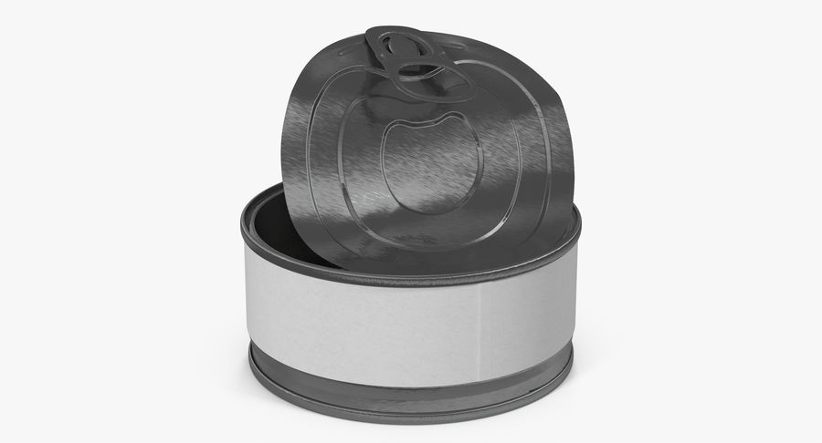 Tin Can Open 3 royalty-free 3d model - Preview no. 13