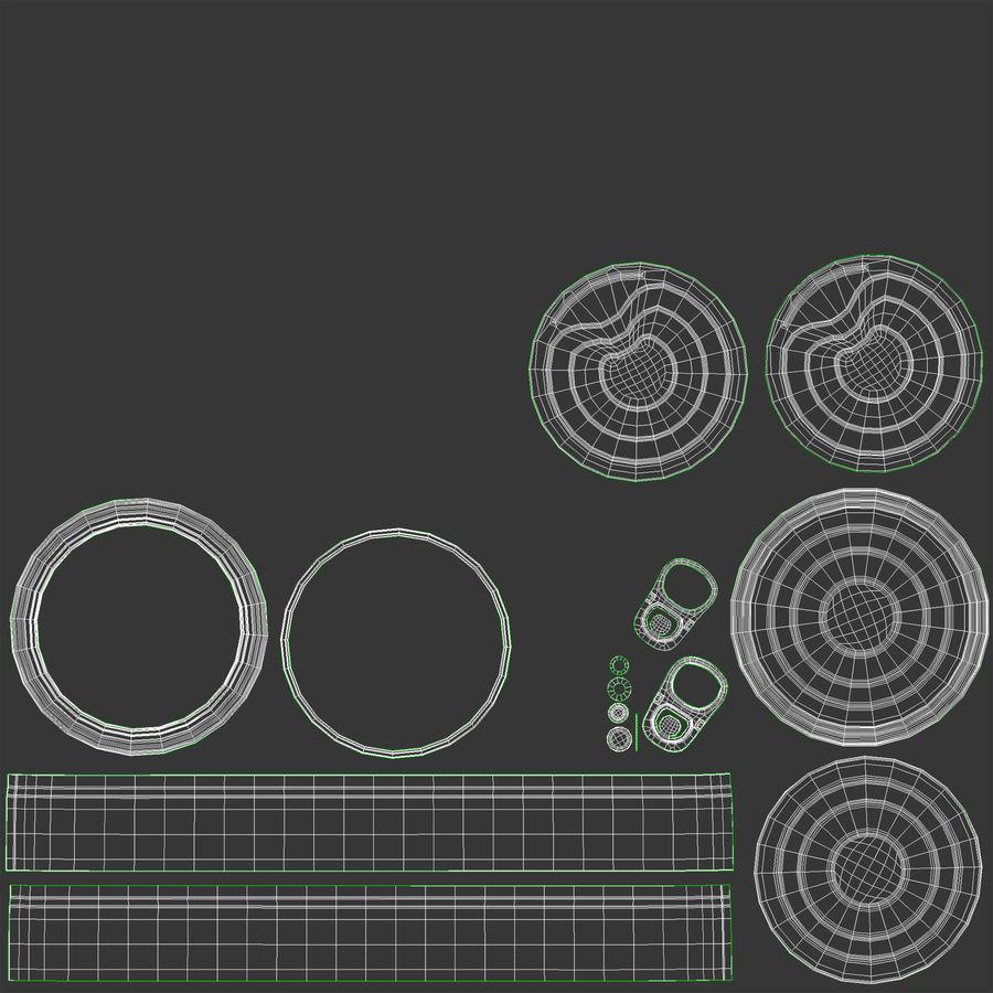 ブリキ缶オープン3 royalty-free 3d model - Preview no. 17