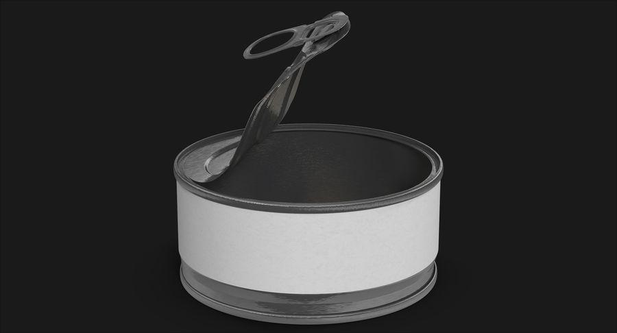 ブリキ缶オープン3 royalty-free 3d model - Preview no. 3