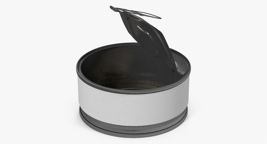 Tin Can Open 3 royalty-free 3d model - Preview no. 14