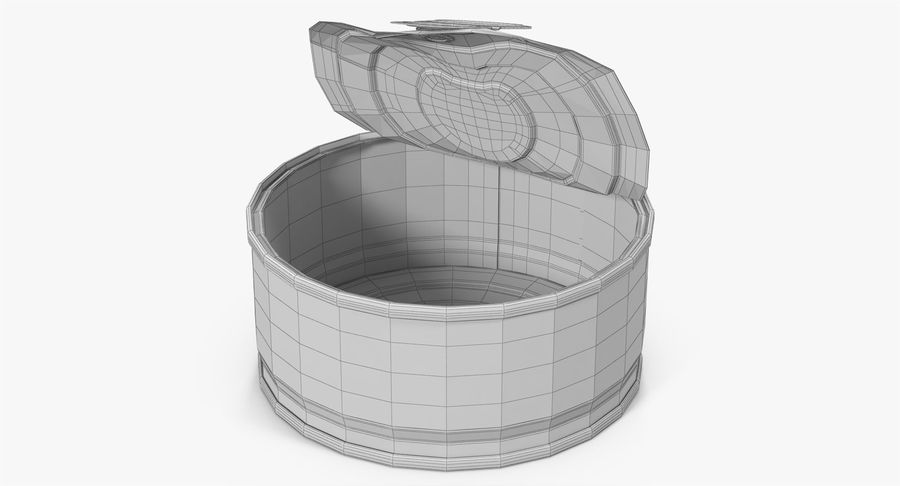 Tin Can Open 3 royalty-free 3d model - Preview no. 21
