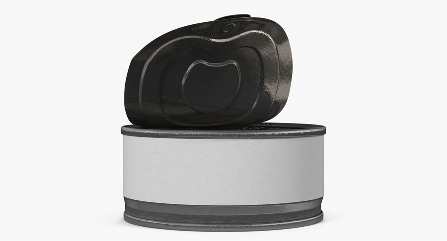 Tin Can Open 3 royalty-free 3d model - Preview no. 12