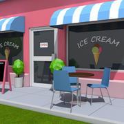 Low Poly Ice Cream Shop 3d model