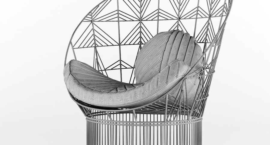 Peacock Lounge Chair royalty-free 3d model - Preview no. 16