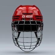Kask do hokeja na lodzie z maską na twarz 3d model