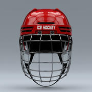 Ice Hockey Helmet with Facemask 3d model