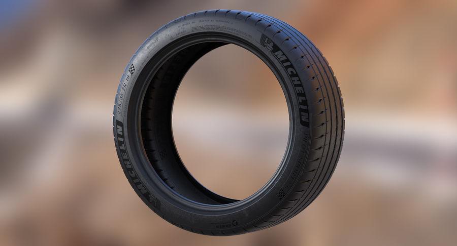Michelin Pilot Sport 4 S royalty-free 3d model - Preview no. 3