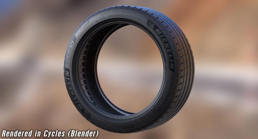 Michelin Pilot Sport 4 S royalty-free 3d model - Preview no. 21