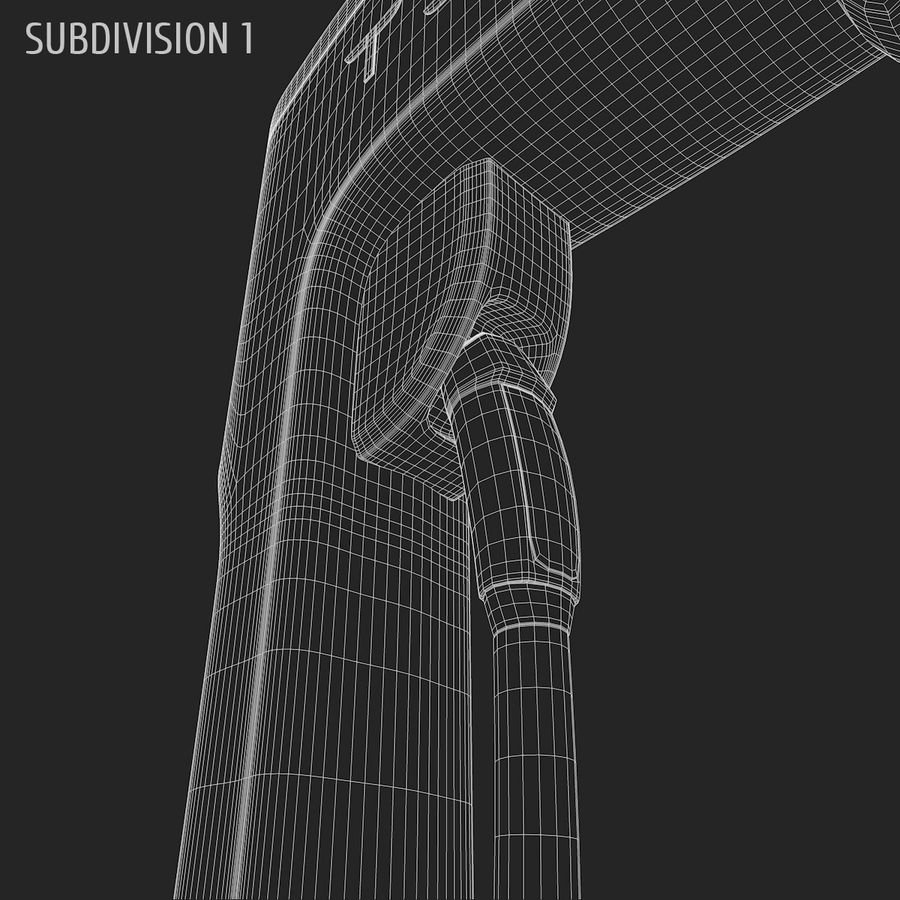 Tesla Supercharger station royalty-free 3d model - Preview no. 8